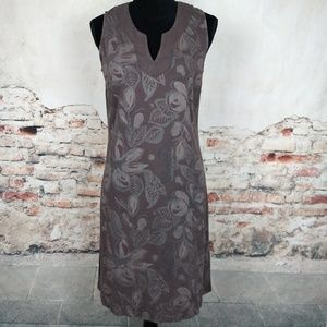 Fresh Produce Gray Brown Taupe Floral Dress
